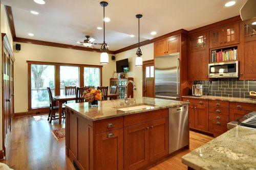质朴美式休闲厨房橱柜图片赏析