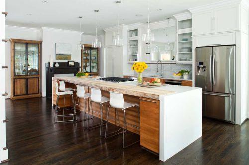 白色大气美式风格厨房橱柜装修赏析