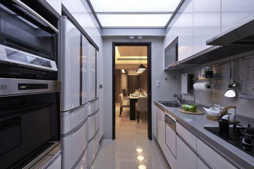 2016实用现代灰色厨房橱柜图片赏析