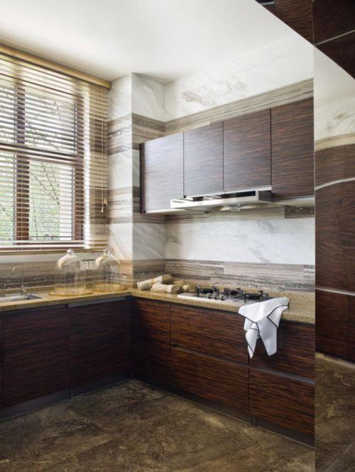 简洁现代风格厨房橱柜装修图片