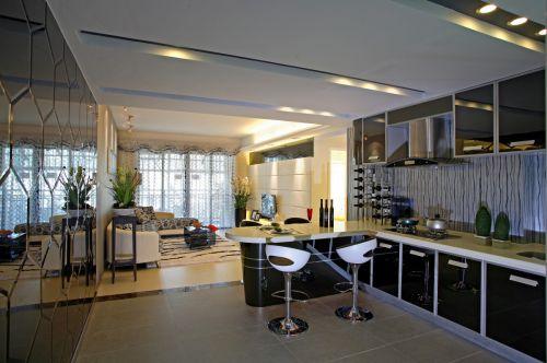 现代风格质感黑色厨房橱柜美图欣赏