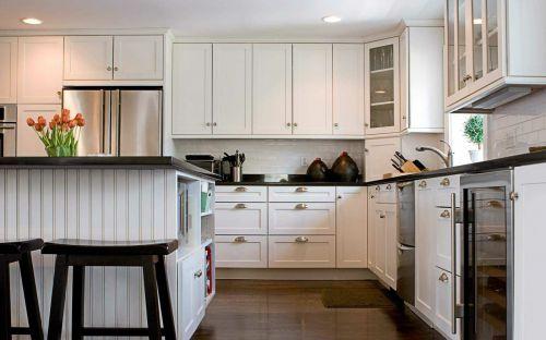 浪漫白色雅致田园风格厨房橱柜欣赏