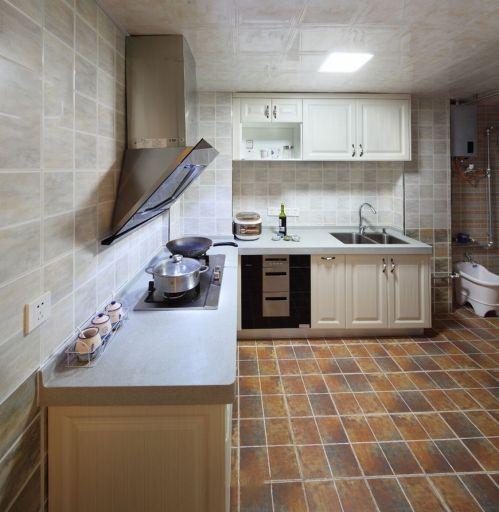 田园风格灰色厨房橱柜效果图设计