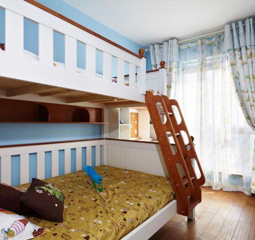 蓝色天真简约儿童房装修装饰