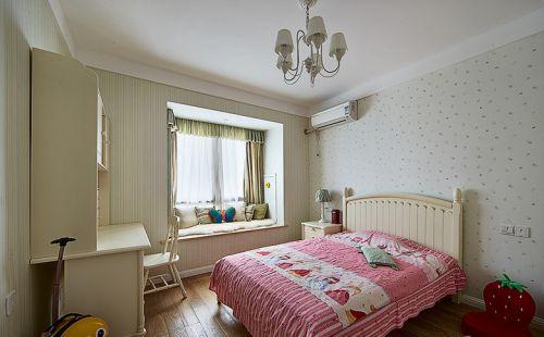 白色清新简约风儿童房效果图设计
