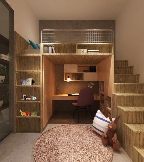 简约风格儿童房橱柜美图赏析