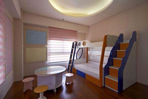 简约风格白色儿童房装修布置2016