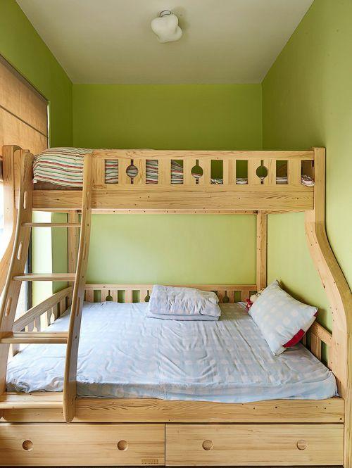 绿色清新简约风儿童房装修图片