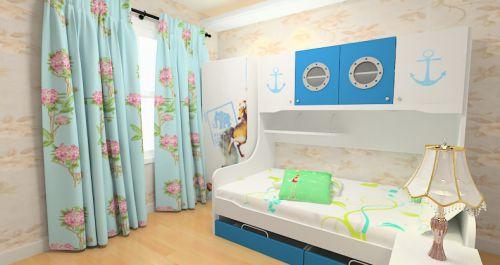 清新简约儿童房装饰图