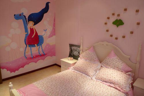 2016粉色美式儿童房装修