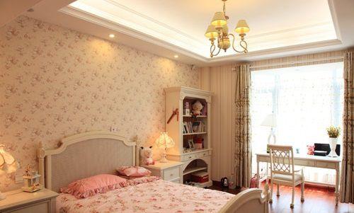 温暖甜蜜粉色儿童房设计效果图