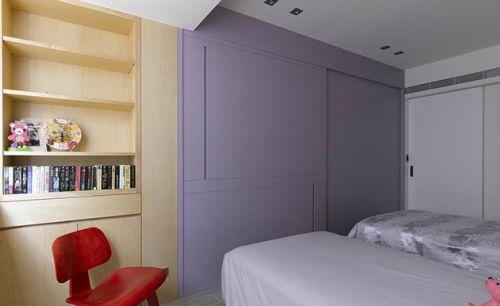 紫色中式儿童房衣柜图片