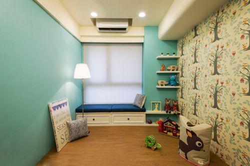 蓝色创意混搭儿童房美图赏析