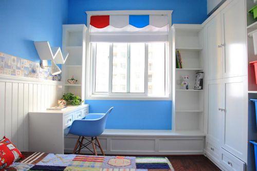 个性蓝色混搭儿童房效果图赏析