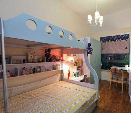 可爱混搭风格儿童房装修布置