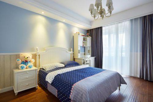 蓝色混搭儿童房效果图设计
