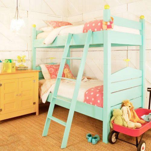 舒适唯美清爽混搭风格儿童房图片赏析