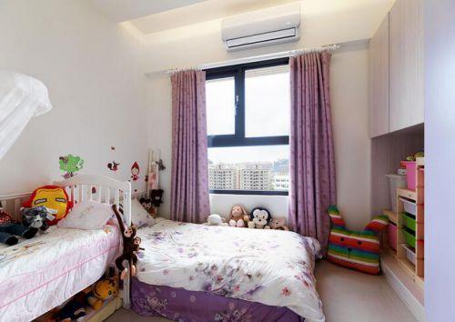浪漫紫色田园风儿童房设计布置
