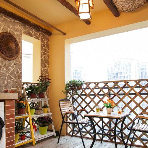 精致时尚东南亚风格阳台设计图片