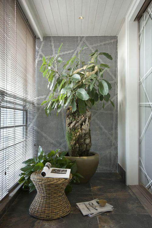 灰色东南亚风格阳台装潢案例