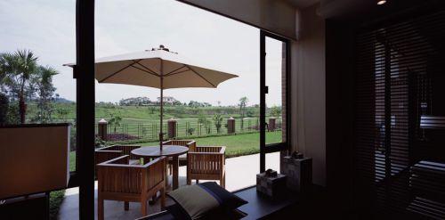 中式风格雅致阳台设计图