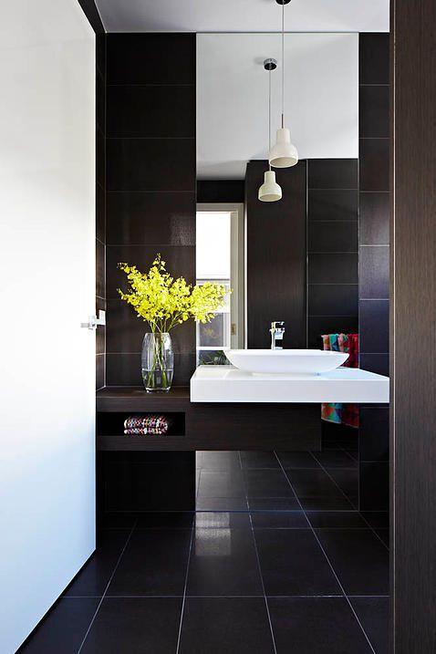 摩登时尚黑色简约风格卫生间设计装潢