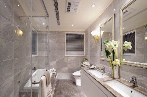简约风格素雅米色卫生间设计装潢