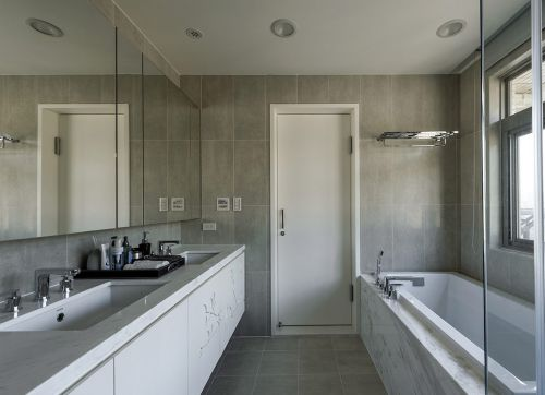 简约风质感灰色卫生间装修设计