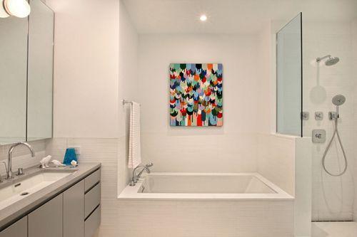 米色简约风格卫生间设计图片