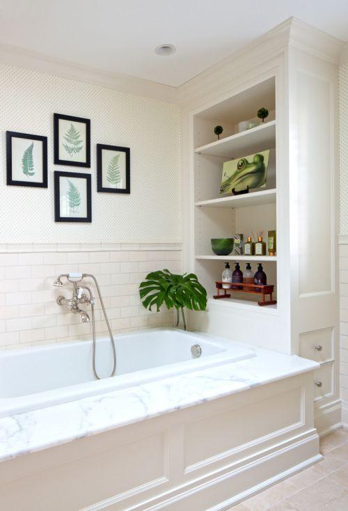 简约风格白色卫生间装修图片欣赏