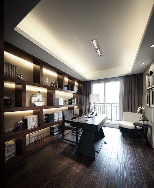 现代风格简洁书房设计案例