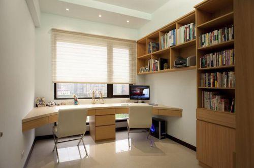 2016简约质朴风格书房装潢设计