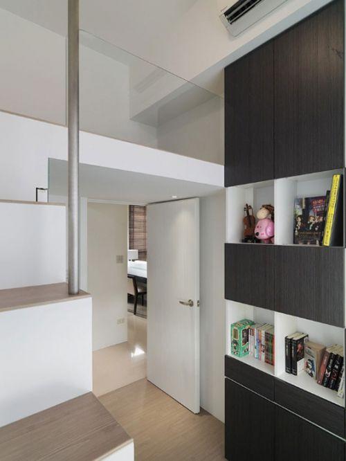 白色简约书房装修效果图片