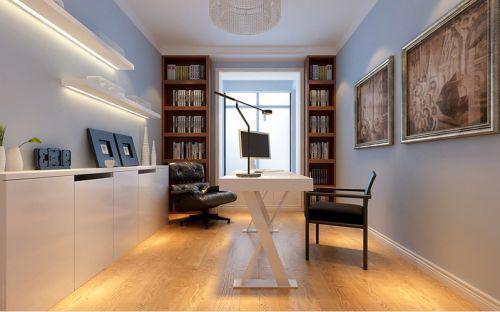 米色简约风格书房设计装潢