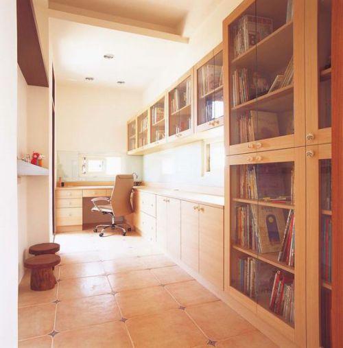 质朴现代风格书房效果图设计