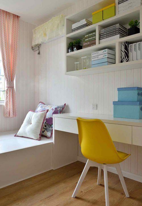 白色简约书房装潢设计