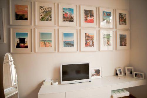 2016大气简约白色书房照片墙装潢设计