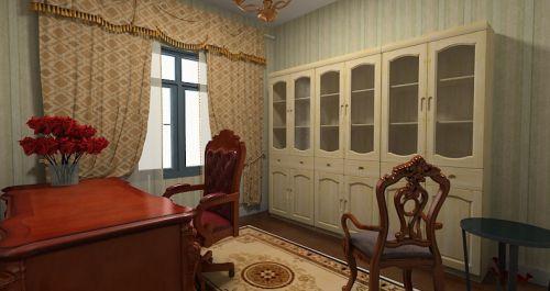 休闲美式风格书房装修图