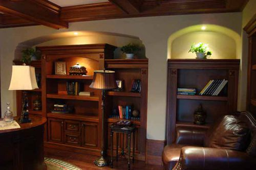 美式书房装潢设计