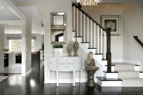 新古典风格灰色玄关装潢设计