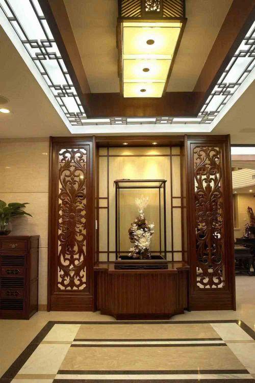 中式镂花新古典风格玄关装饰