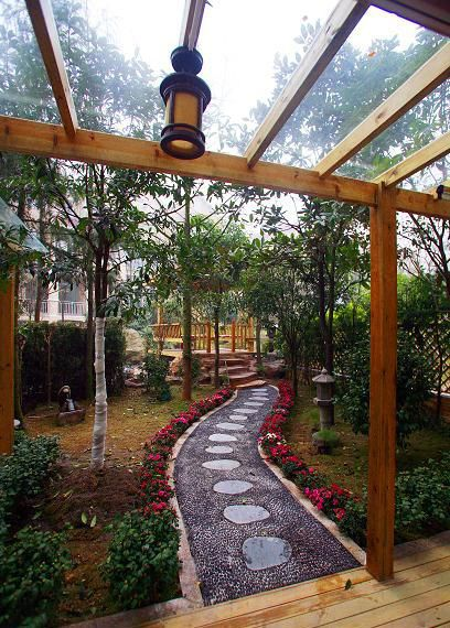 现代时尚清新花园设计装潢
