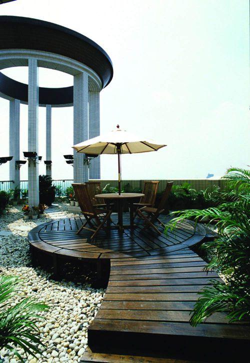 自然清新现代花园设计效果图