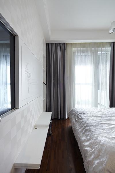 白色简约风格卧室背景墙效果图赏析