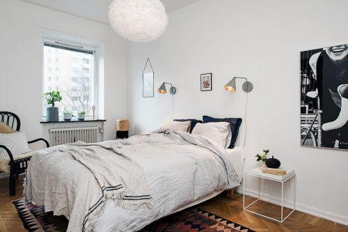 白色简约舒适安静卧室装修布置