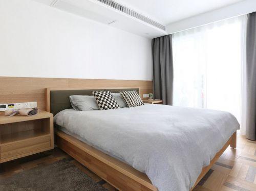 白色日系简约风卧室装修案例2016