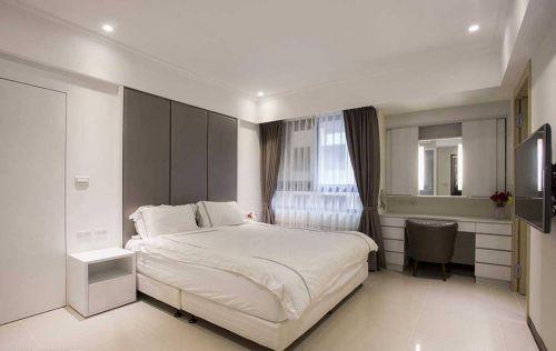 2016白色简约风格卧室整体效果