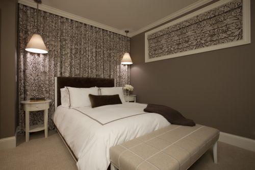 简约风灰色质感卧室效果图设计