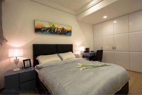简约风格清新蓝色卧室装修图片