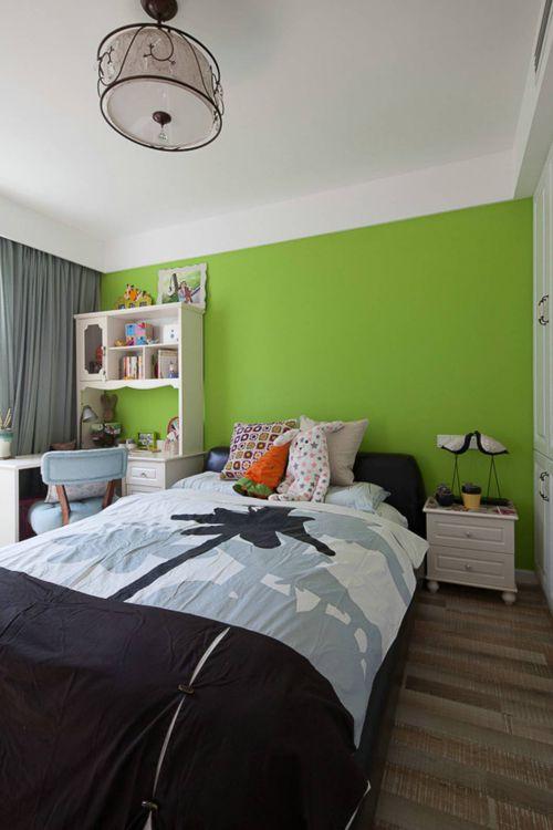 清新绿色简约风卧室装修效果图